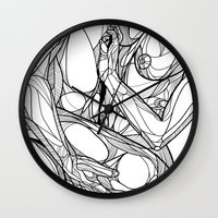 passion Wall Clocks featuring Passion by Jasmine Smith