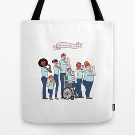 Intersectional Rosie the Riveter Tote Bag