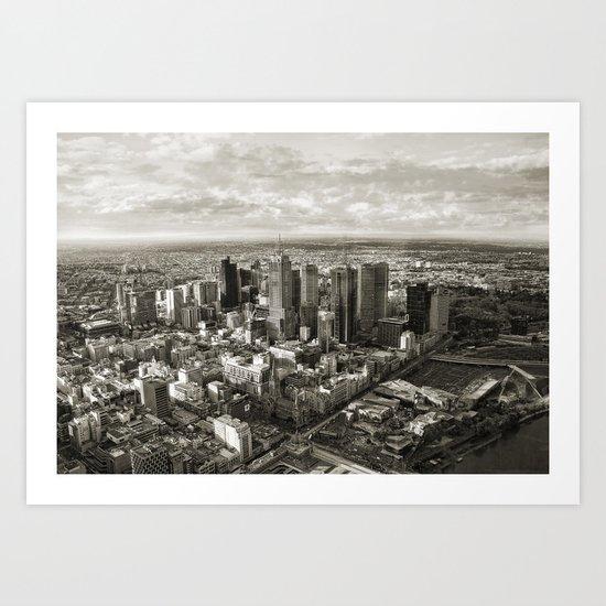 Melbourne City Art Print