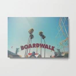 Santa Cruz boardwalk ... Metal Print