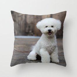 Cute little Bichon Throw Pillow