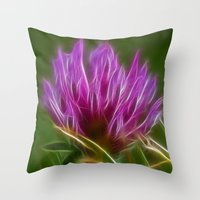 clover Throw Pillows featuring Clover by Best Light Images