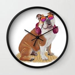 Summetime Bulldog Wall Clock