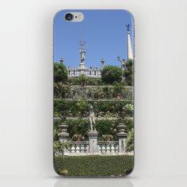 Gardens of Borromeo Palace on Isola Bella, Stresa,Italy. iPhone Skin