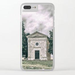 Cappella della Madonna di Vitaleta Clear iPhone Case