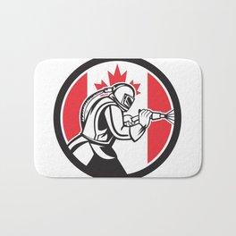 Sandblaster Abrasive Blasting Canada Flag Circle Bath Mat