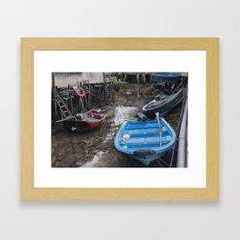Upstream And Downstream Framed Art Print