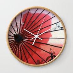 RED CHINA Wall Clock