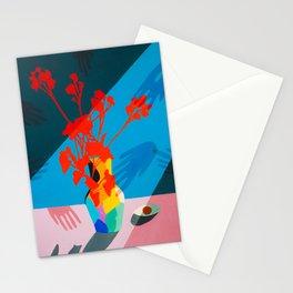 El tacto de las flores  Stationery Cards