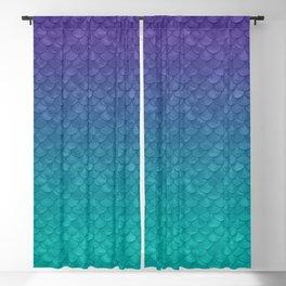 Ariel Mermaid Inspired Purple & Green Blackout Curtain