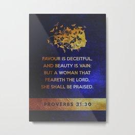 Proverbs 31 Metal Print