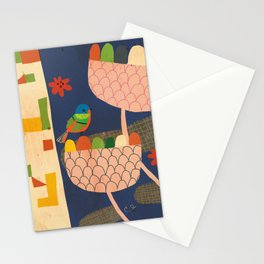 Flora and Fauna-Bunting Stationery Cards