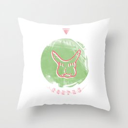 Taurus - Teeth Zodiac Throw Pillow