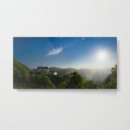 Castle from Books Metal Print