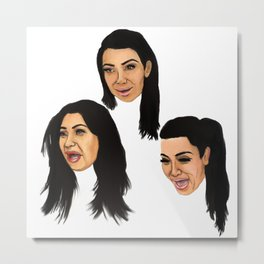 Krying Kim Kardashian  Metal Print