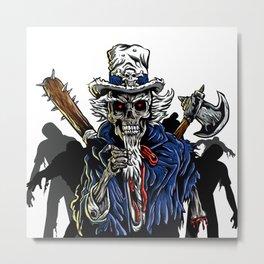 Zombie Uncle Sam  Metal Print