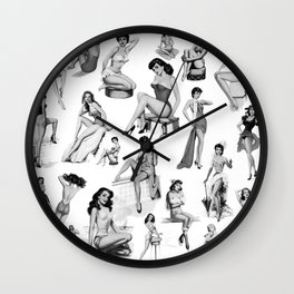 Pin Up Girls Wall Clock