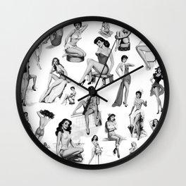 Pin Up Girls Wall Clock