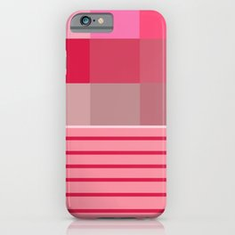 Pixels And Stripe iPhone Case