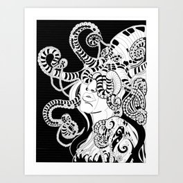 Witch of the Sea Art Print