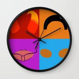 Satan and Me Symbols Wall Clock