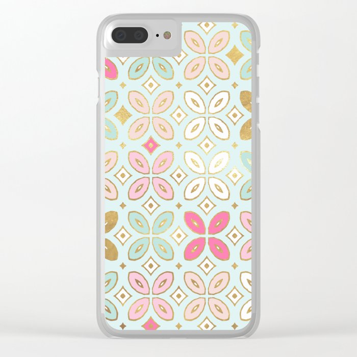 MORROCCAN TILE - ALEXA SPRING MINT Clear iPhone Case