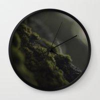 moss Wall Clocks featuring MOSS by Erin Graboski