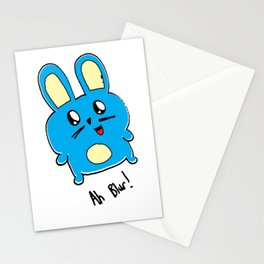 Ah Blur The Blue Bunny Stationery Cards