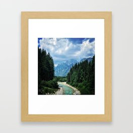 Wood as a chance of existence Framed Art Print