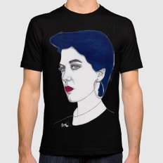 Girl with Blue Hair Black MEDIUM Mens Fitted Tee