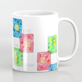 LIVE LOVE LAUGH geometric pattern illustration Watercolor Painting minimalism typography Coffee Mug