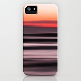Sunset Shades of Magenta Beach Ocean Seascape Landscape Coastal Fine Art Painting  iPhone Case