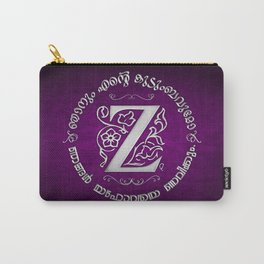 Joshua 24:15 - (Silver on Magenta) Monogram Z Carry-All Pouch