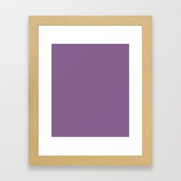 French Lilac - solid color Framed Art Print