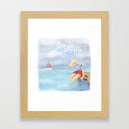 So simple Framed Art Print