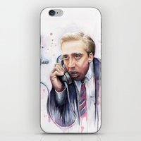nicolas cage iPhone & iPod Skins featuring Nicolas Cage by Olechka