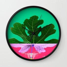 Fig Leaf Diamond Christmas - Other Half and Half Wall Clock