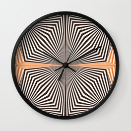 Orange #451 Wall Clock