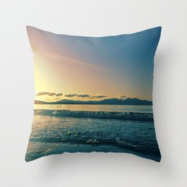 Oban | Musical Crime Productions | Scottish Seascape | Sunset Throw Pillow