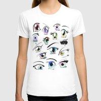 manga T-shirts featuring Manga Eyes by TAEMI.