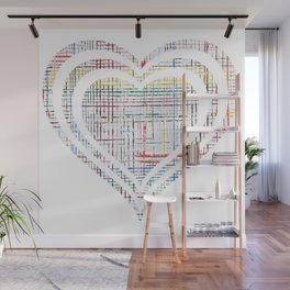 The System - heart Wall Mural