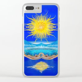Sacred Sun Clear iPhone Case