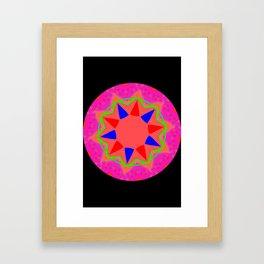 Abstract 5B Star Framed Art Print