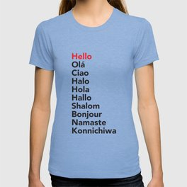 Hello in 10 Different Languages T-shirt