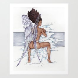 Afro Angel Art Print