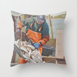 Cape Cod Fresh Fish Throw Pillow