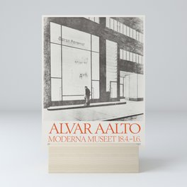 Exhibition poster-Alvar Aalto-Moderna museet. Mini Art Print