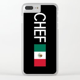 Chef (Mexican Flag) Clear iPhone Case