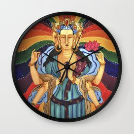 Buddha of Compassion Wall Clock