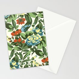 Butterfly garden in beige Stationery Cards